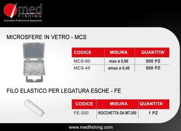 c16 - MCS -FE - MICROSFERE IN VETRO - FILO ELASTICO