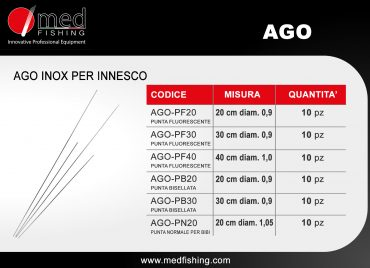 ago inox per innesco medfishing NEW